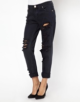 One Teaspoon London Awesome Baggie Rip Jeans - Black