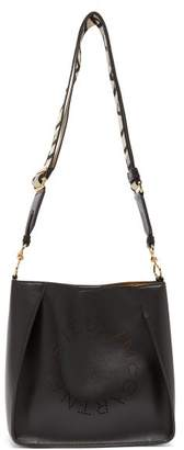 Stella McCartney Perforated Logo Mini Faux-leather Cross-body Bag - Womens - Black