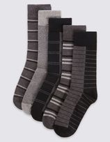 Marks and Spencer Cotton Rich 5 Pair Pack Socks with Cool ComfortTM Technology