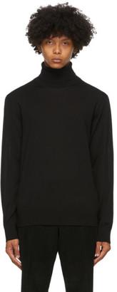 Ermenegildo Zegna Black Wool Turtleneck