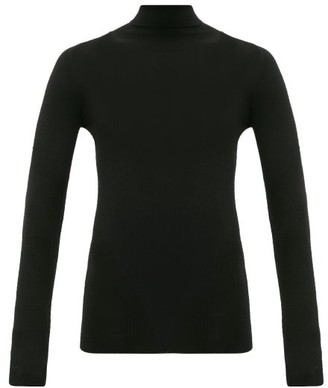 Wardrobe.nyc - Release 05 Roll-neck Ribbed Merino-wool Sweater - Womens - Black