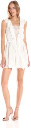 For Love & Lemons Women's Stardust Lace Drawstring Dress