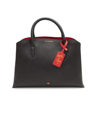 Lulu Guinness Emme Grainy Leather Work Bag Colour: BLACK, Size: One Si