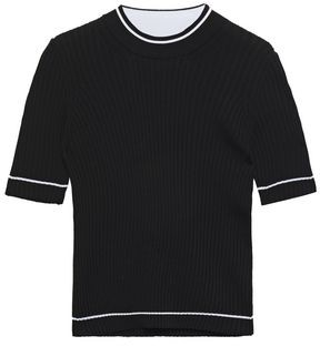 Maison Margiela Ribbed Wool-blend Top