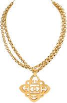 One Kings Lane Vintage 1980s Chanel Logo Pendant Necklace
