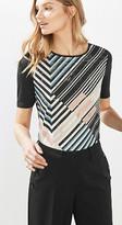 Esprit Flowing fabric mix print T-shirt