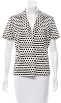 Max Mara Geometric Print Short Sleeve Blazer w/ Tags