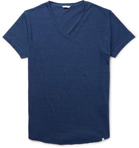 Orlebar Brown Ob-v Slim-fit Cotton-jersey T-shirt - Navy