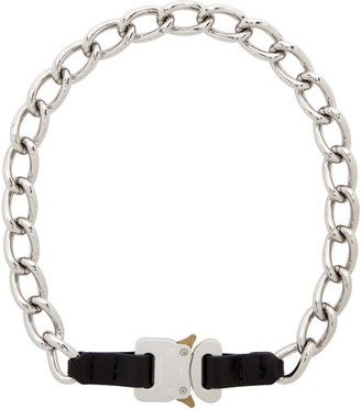 Alyx Silver Chain and Leather Buckle Necklace