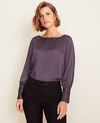 Ann Taylor Tall Boatneck Blouse
