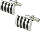 Link Up Rectangular Enamel-Striped Cuff Links