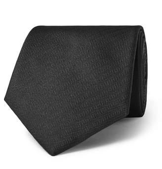 Brioni 8cm Herringbone Silk Tie