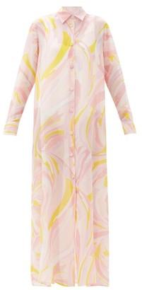 Emilio Pucci Pucci Printed Cotton-blend Organdy Shirt Dress - Pink Multi