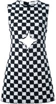 Courreges monochrome check cut out shift dress