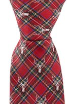 "Class Club 14"" Christmas Plaid Deer Tie"