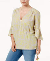 Melissa McCarthy Trendy Plus Size Tasseled Wrap Top