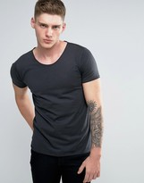 Lindbergh T-Shirt With Rolled Edge In Khaki