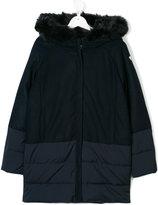 Armani Junior fur-trimmed coat