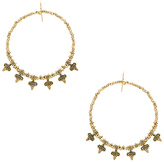 Vanessa Mooney Mary Earrings in Metallic Gold.