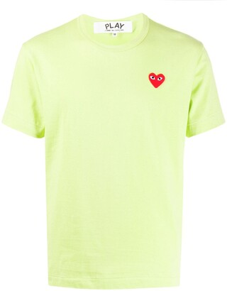 Comme des Garcons heart embroidered round neck T-shirt