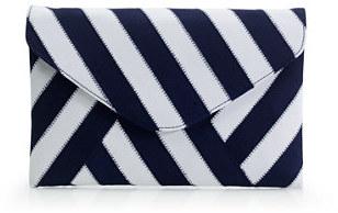 J.Crew Invitation clutch in ribbon stripe