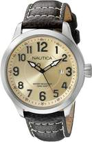 Nautica Men's NAD10006G NCC 01 Date Analog Display Analog Quartz Brown Watch