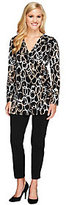 As Is Women with Control Petite Faux Wrap Tunic & Pants Set