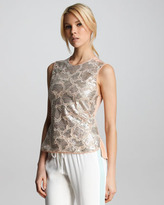 Rebecca Taylor Sequined Camouflage Shell