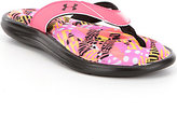 Under Armour Marbella Girls' Floral Thong Slip-On Sandals
