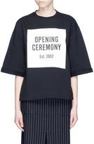 Opening Ceremony 'OC' mirrored logo print cotton fleece sweatshirt