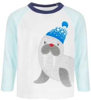 First Impressions Baby Boys Long-Sleeve Walrus Cotton T-Shirt, Created for Macy's