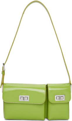 BY FAR Green Patent Billy Shoulder Bag