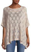 Trina Turk Batwing-Sleeve Cotton Sweater
