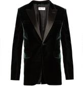 Saint Laurent Peak-lapel single-breasted velvet jacket