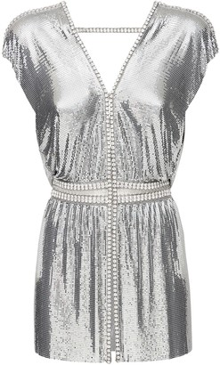 Paco Rabanne Crystal & Metal Mesh Top