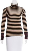 Sonia Rykiel Wool-Bled Striped Turleneck