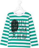 Burberry striped long sleeved T-shirt - kids - Cotton - 10 yrs
