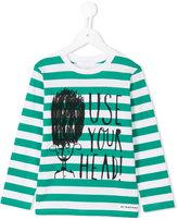 Burberry striped long sleeved T-shirt - kids - Cotton - 6 yrs