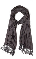Crinkle in Time Scarf in Charcoal