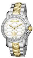 Roberto Cavalli Womens Two-tone Silver/gold Watch With White Dial.