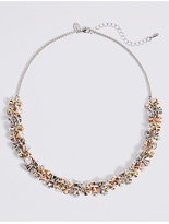 M&S Collection Chunky Drum Sparkle Necklace