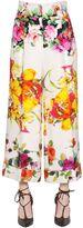 Blumarine Floral Printed Stretch Cady Pants