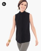 Chico's Pleated Layer Mock-Neck Top