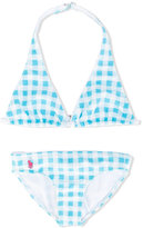 Ralph Lauren gingham check bikini - kids - Nylon/Polyester - 7 yrs