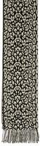 Reiss Hazel Leopard Print Reversible Scarf