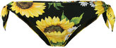 Dolce & Gabbana sunflower print bikini bottoms - women - Polyamide/Spandex/Elastane - 3