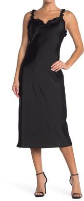 Betsey Johnson Ruffle Strap Satin Slip Dress (Regular & Plus Size)