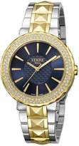 Ferré Milano Women's FM1L058M0111 Dark Dial with Two Toned Stainless-Steel Band Watch.