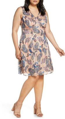 Maree Pour Toi Paisley Print Sleeveless Dress