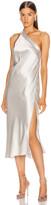 Mason by Michelle Mason Crystal Midi Dress in Platinum | FWRD